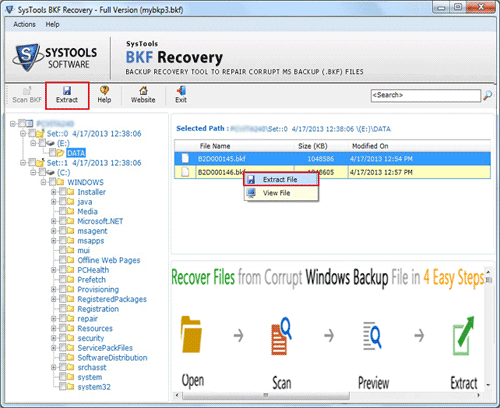 Recover Data for MS Backup